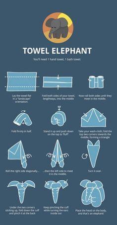 Kreative Ideen - DIY Tuch-Elefant