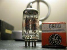 "NOS GE Type 6680 / 12AU7A ECC82 Preamp Audio ""Low Noise"" Vacuum Tube"