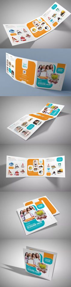 Product Sale Square Trifold Brochure Template PSD