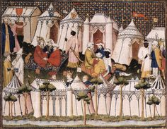 A Commonplace Book: Two Elaborate Encampments, c. 1404