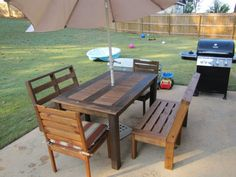 Free DIY Furniture Plans to Build Customizable Outdoor Furniture - Cute Decor