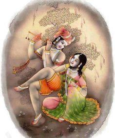 Radha-Krishna carbochon