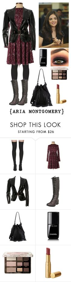 """PLL aria montgomery style."" by sweetdreamer13 ❤ liked on Polyvore featuring Yeezy by Kanye West, ASOS, Gucci, Loeffler Randall, Chanel and Too Faced Cosmetics"