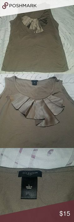 Ann Taylor Sleevless Blouse L (Dark Taupe) 60% Cotton & 40% Modal, dress up or wear it casual Ann Taylor Tops Blouses