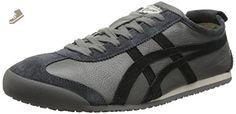 Onitsuka Tiger Mexico 66 Vin Classic Running Shoe, Grey/Black, 7.5 M US - Onitsuka tiger for women (*Amazon Partner-Link)