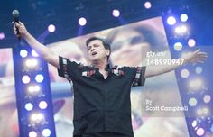 Les McKeown of the Bay City Rollers performs on stage during Rewind Scotland the music festival at Scone Palace on July 2012 in Perth, United Kingdom. Get premium, high resolution news photos at Getty Images Les Mckeown, Bay City Rollers, Scott Campbell, First Love, My Love, 80s Music, Pop Singers, No One Loves Me, 3 D