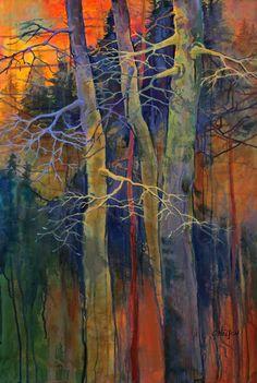 """Twilight Dance"" 36x24 acrylic by Carol Nelson"