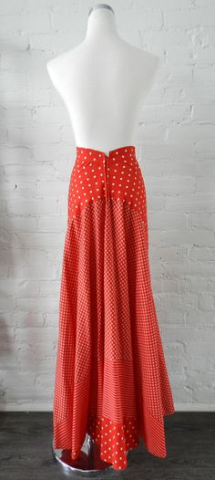 Mary Quant Vintage 1970's Red Skirt image 5