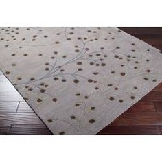 Hand-tufted Gray Canaan Wool Rug (6' x 9') on Overstock.com