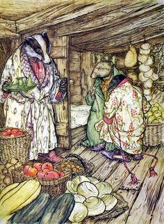 Wind in the Willows 1 ~ Arthur Rackham, Fairy Tales ~ Cross Stitch Pattern #StoneyKnobFarmHeirlooms #FramedPicture