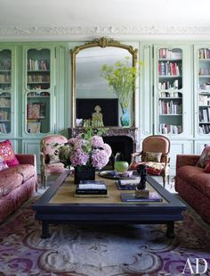 The living room of Anne McNally's Paris apartment