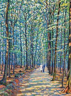 "Gustave Camille Gaston Cariot (1872-1950) "" Georgenborn sous- bois."""