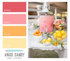 Pink, orange + yellow color palette #colorcrush - Angie Sandy