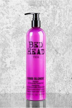 Tigi Bed Head Dumb Blonde Shampoo the best purple shampoo for toning Tigi Bed Head Dumb Blonde Shampoo the best purple shampoo for toning. Tigi Bed Head Dumb Blonde Shampoo the best purple shampoo for toning Tig Purple Shampoo Toner, Lila Shampoo, Purple Shampoo For Blondes, Best Purple Shampoo, Purple Shampoo And Conditioner, Violet Shampoo, Salon Shampoo Brands, Redken Shampoo, Different Shades Of Blonde