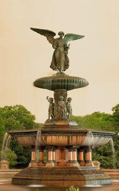 Bethesda fountain. Central Park, New York City
