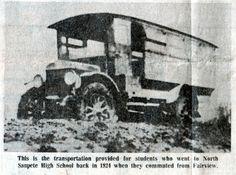 1924 School bus for North Sanpete High School in Mt. Pleasant, Utah