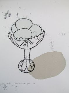 Eggs in Sundae Glass - Kathy Hutton
