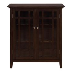 "Simpli Home Bedford Storage Cabinet and Buffet in dark tobacco brown (39""W x 17""D x 42""H) -- $309"