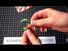 My favorite Bow Making Tutorial Quick and excellent way to Make Bows and Tie-Ons for Greeting Cards Card Making Tips, Card Making Techniques, Making Ideas, Bow Making Tutorials, Card Tutorials, Video Tutorials, Bow Tutorial, Card Making Inspiration, Card Sketches