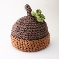 Free Crochet Baby Acorn Hat Pattern : 1000+ images about Handicrafts: Crochet on Pinterest ...