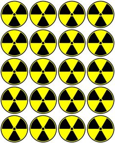 Free Radioactive printable cupcake toppers or you can use them for stickers and much more. They are free to use and free to share for personal use. Asylum Halloween, Mad Science Party, Cupcake Toppers Free, Mad Scientist Party, Science Icons, Zombie Party, Art Party, Party Printables, Party Planning