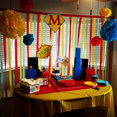 Baby shower ideas for boys themes superhero superman birthday 15 super ideas Superman Baby Shower, Marvel Baby Shower, Superhero Baby Shower, Boy Baby Shower Themes, Baby Shower Fun, Baby Shower Decorations, Baby Showers, Superman Birthday, Superhero Birthday Party