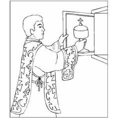 mass coloring pages - 1000 images about catholic kids mass on pinterest