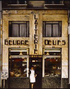 Old Paris, Vintage Paris, Vintage Travel, Vintage Shops, Restaurants, Musee Carnavalet, Kitchen Stove, Ferrat, Shop Fronts