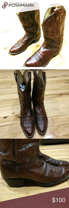 Vintage Mens J Chisholm Cowboy Boots Size 11D Vintage Mens J Chisholm Cowboy Western Boots Size 11D, brown color and they are in excellent condition. I'm selling them at an excellent price so get them today yeah!  J Chisholm Cowboy Western Boots  Shoes Boots
