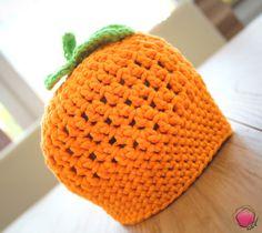 """Mützen - Mütze. """"Kleines Früchtchen.Orange"""" - ein Designerstück von Pinkyboodesign bei DaWanda"""