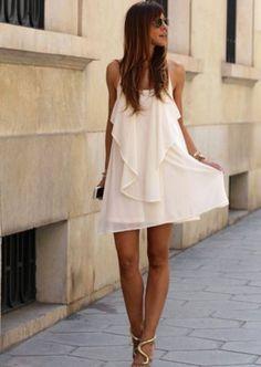 Vestido drapeado com alças brilhantes