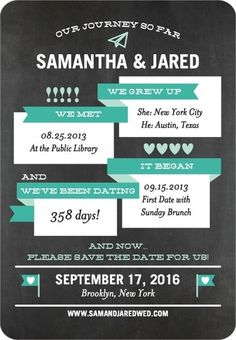 Wedding Paper Divas - Destination Journey - Save the Date Magnets - East Six Design - Bay - Green : Front  3.38 x 4.88 in magnet 125 @ $1.99/each = about $248.75