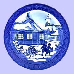 2005 Royal Copenhagen Blue Christmas plate