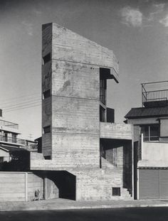 subtilitas: Takamitsu Azuma - Tower house, Tokyo 1966. Via, which also includes some pictures of the context now, showing Azuma's correct forecast of the city's inevitable densification the house was designed for.