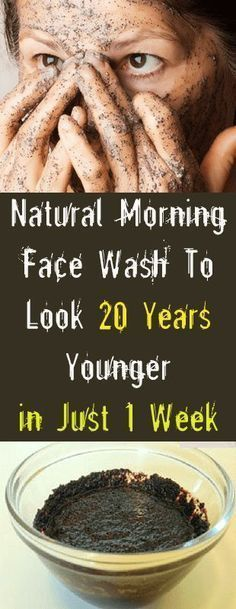 Natural Morning Face Wash To Look 20 Years Younger in Just 1 Week #skin #beauty #health #remedies #skintags #wrinkles #homeremedies #younger