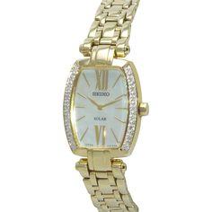 Seiko Women's SUP286 Tressia Analog Display Japanese Quartz Gold Watch Deal