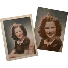 Pair of 1940's Shirley Temple (MGM Pictures) Give-Away Pictures Unused from zeldagray on Ruby Lane
