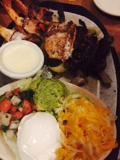 Uncle Julio's - Austin, TX, United States. Fajitas!!!  - steak, chicken and bacon wrapped shrimp, something for everyone