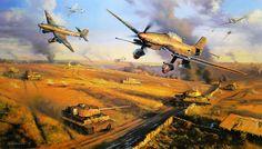 ww2 aircraft painting - Ju-87