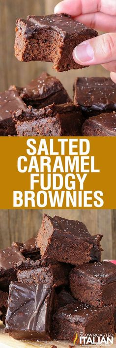 Salted Caramel Fudgy Brownies are rich and decadent chocolate brownies with…
