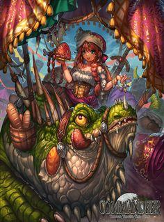 Commandeer : Lizard and Merchant by Sa-Dui.deviantart.com on @DeviantArt