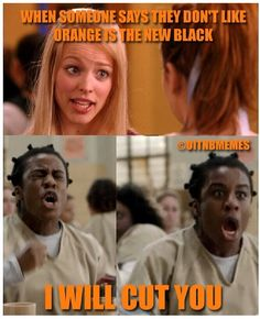 I LOVEEEEEEEE Orange is the new black :) How the f can someone not like this show though?!