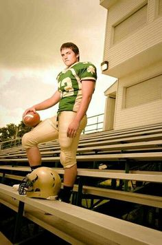 Senior Picture Ideas for Guys. Football Senior Picture Photography