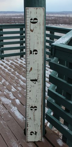 Children's Wooden Growth Chart Ruler For A Nursery by LightFilled