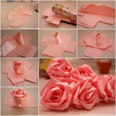How to make simple paper roses and beautiful roses for mothers day rosas gigantes de papel lindas mightylinksfo