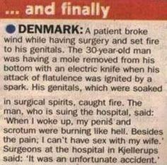 Funny joke news denmark picture photo