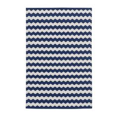 Navy Zig Zag Cotton Carpet