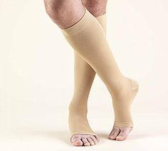 22390ce6b05da SECOND SKIN Surgical Grade OPEN TOE 20-30 mmHg Knee High Support Stockings  Graduated Compression