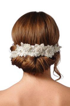 312 - Lolita Lux Headpiece -  bridal comb rhinestone comb crystal comb veil comb bridal brooch bridal head piece swarovski