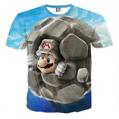 Super Mario Rock Mushroom Cool Gaming T-Shirt  #SuperMario #Rock #Mushroom #Cool #Gaming #T-Shirt